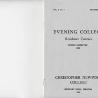 2.1 A Evening College Residence Course Catalog, Spring Semester 1963