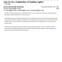 1.9 T Join Us for a Celebration of Holiday Lights! (2011)