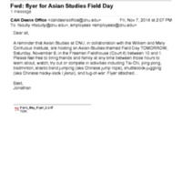 3.42 Flyer for Asian Studies Field Day
