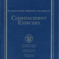1.8 A-1 Program of Commencement Exercises, May 12, 2012