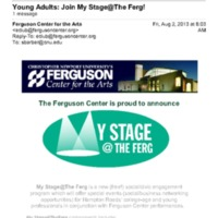 2.13 F Young Adults: Join My Stage@The Ferg!