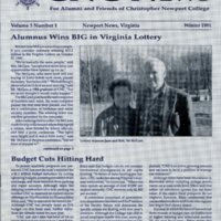 5.1 A-1 Winter 1991 CNC News: For Alumni and Friends of Christopher Newport College