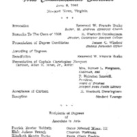 1.8 A-1 Program of First Commencement Exercises, June 6, 1963