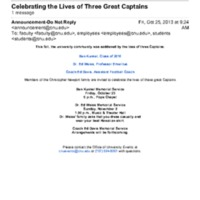 5.7 Celebrating the Lives of Three Great Captains