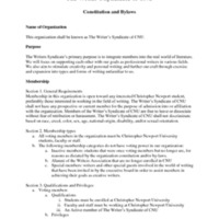 5.3 ZZZZZH The Writer's Syndicate of CNU Constitution and Bylaws