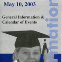 1.8 A-4 Commencement, May 10, 2003, General Information and Calendar of Events