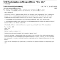 "2.46 B-4 CNU Participation in Newport News ""One City"""