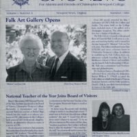 5.1 A-1 Summer 1989 CNC News: For Alumni and Friends of Christopher Newport College