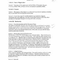 5.3 ZZZW Constitution of the Hillel of Christopher Newport University
