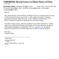 3.42 Special Course on Ethnic Dance of China