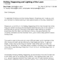 1.9 V Holiday Happening and Lighting of the Lawn (2014)