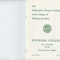 2.1 A Evening College Residence Course Catalog, Fall Semester 1964-1965