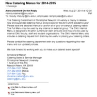 2.12 H New Catering Menus for 2014-2015