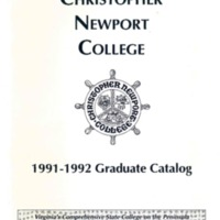 3.8 A 1991-1992 Christopher Newport University Graduate Catalog