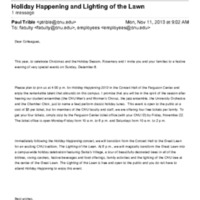 1.9 V Holiday Happening and Lighting of the Lawn (2013)