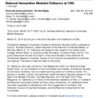2.49 A  National Humanities Medalist Delbanco at CNU