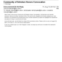 1.8 C-3 Community of Scholars Honors Convocation