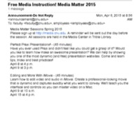 2.19 O-1 Free Media Instruction! Media Matter 2015