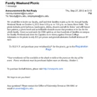 1.9 D-6 Family Weekend Picnic