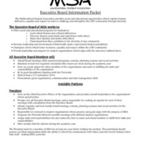5.3 ZR Multicultural Student Association Executive Board Information Packet