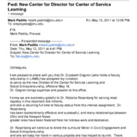2.46 A-2 New Center for Director for Center of Service Learning