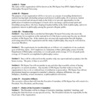 5.2 ZP The Constitution of the Phi Sigma Tau Alpha Chapter