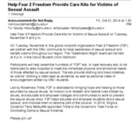 1.9 ZE Help Fear 2 Freedom Provide Care Kits for Victims of Sexual Assault