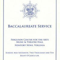 1.8 A-6 Baccalaureate Service, May 16, 2010