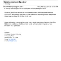 1.8 A-3 Commencement Speaker: Governor Bob McDonnell