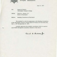 1.2 Memo to Board of Visitors RE - Standing Committees of the Board