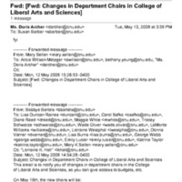 4.12 Changes in Department Chairs in College of Liberal Arts and Sciences
