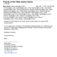 2.19 P-2 Friends of the Trible Author Series (Falk)