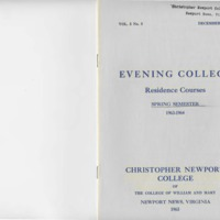 2.1 A Evening College Residence Course Catalog, Spring Semester 1963-1964